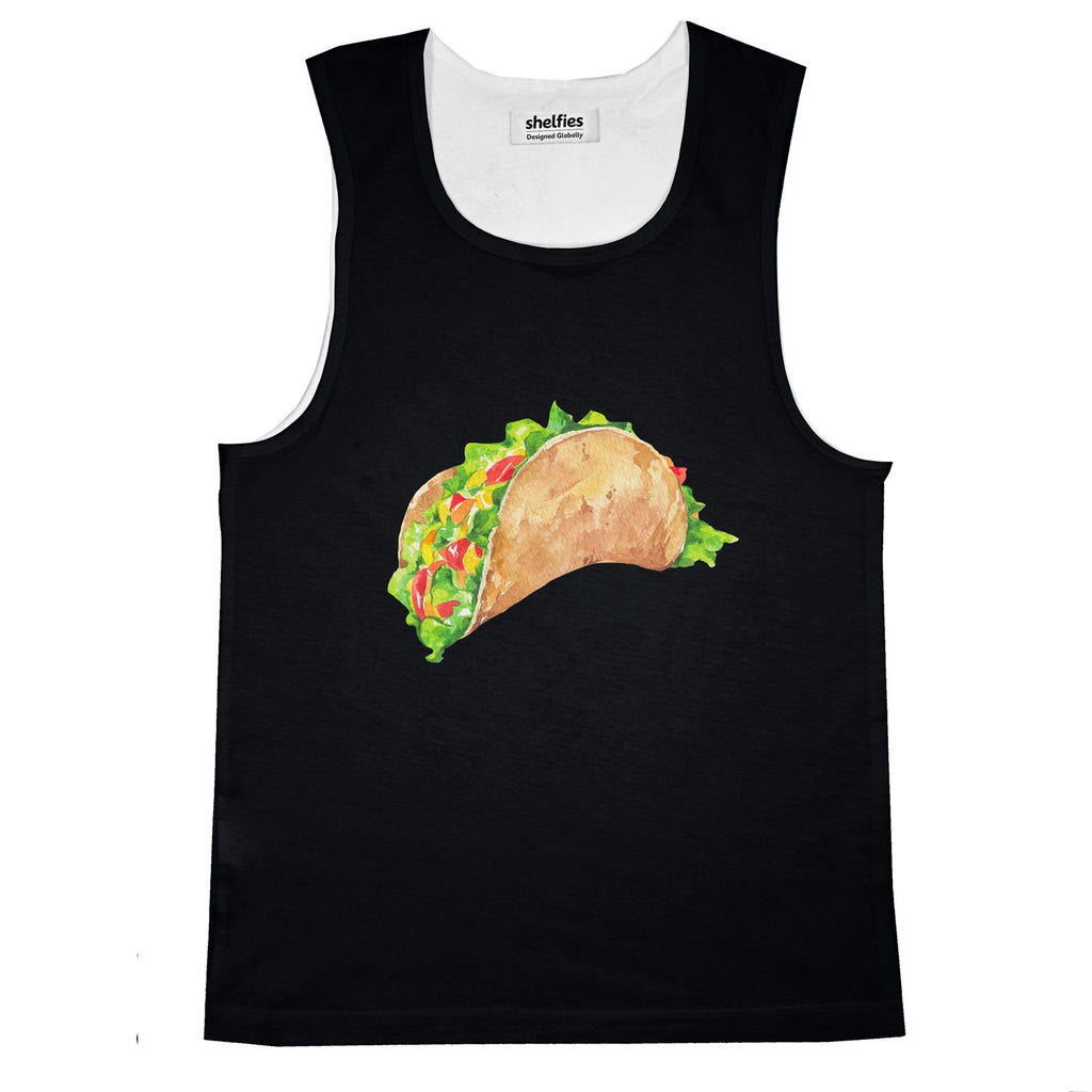 Taco Dirty To Me Basic Tank Top-Printify-Black-S-| All-Over-Print Everywhere - Designed to Make You Smile