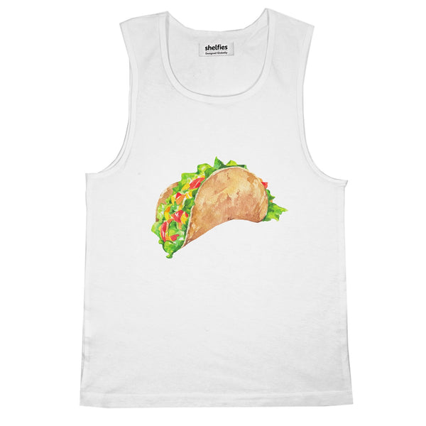 Taco Dirty To Me Basic Tank Top-Printify-White-S-| All-Over-Print Everywhere - Designed to Make You Smile