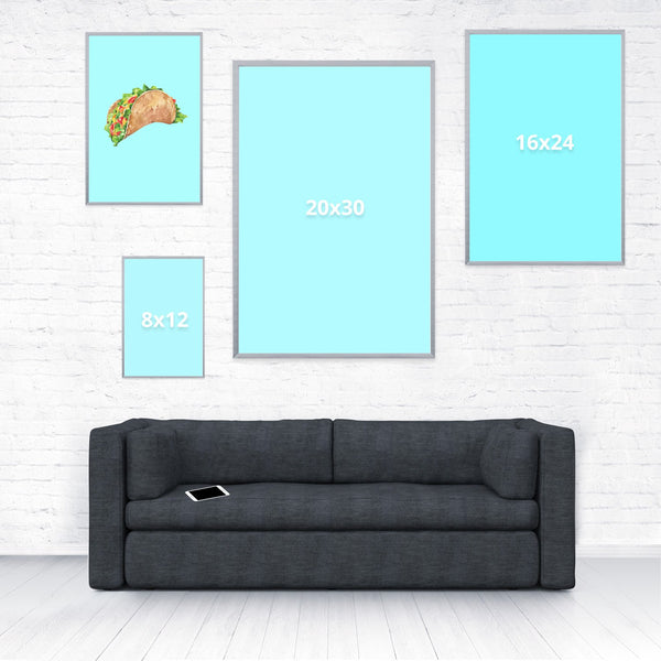 Taco Dirty To Me Poster-Shelfies-12 x 18-| All-Over-Print Everywhere - Designed to Make You Smile