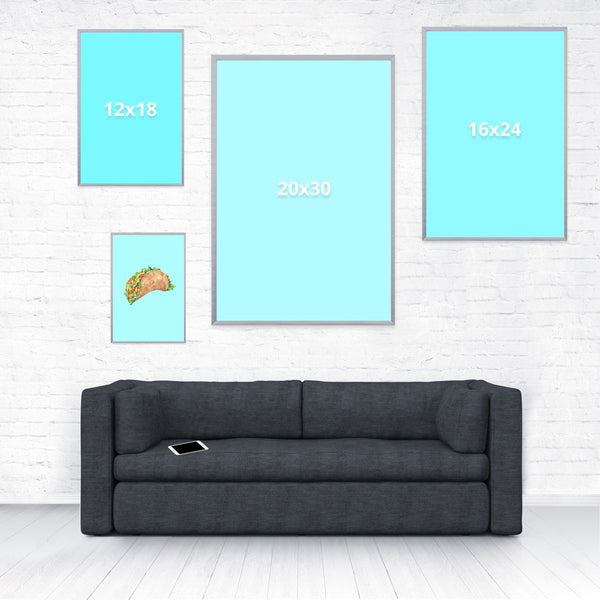 Taco Dirty To Me Poster-Shelfies-8 x 12-| All-Over-Print Everywhere - Designed to Make You Smile