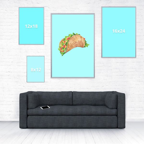 Taco Dirty To Me Poster-Shelfies-20 x 30-| All-Over-Print Everywhere - Designed to Make You Smile