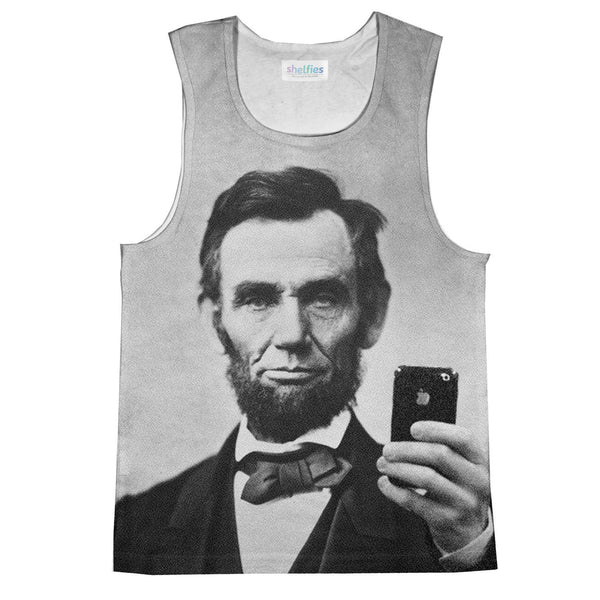 Tank Tops - Abraham Lincoln Selfie Tank Top