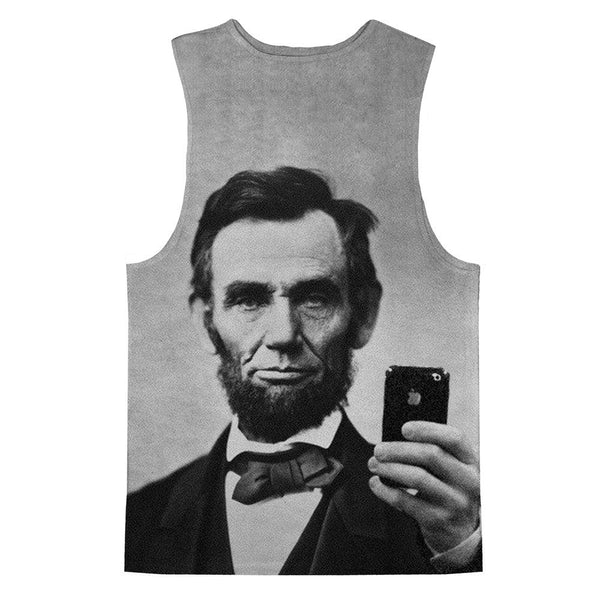 Abraham Lincoln Selfie Tank Top-kite.ly-| All-Over-Print Everywhere - Designed to Make You Smile