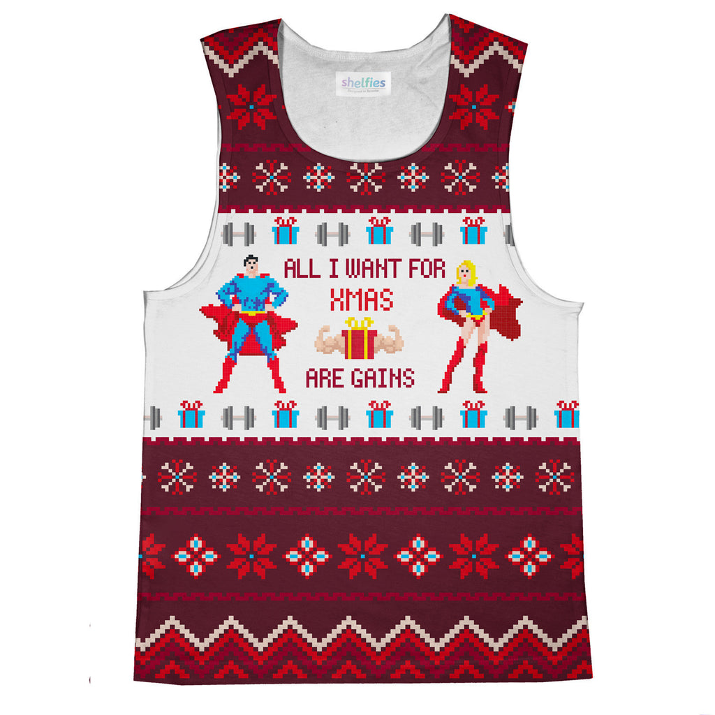 Tank Tops - All I Want For Xmas Are Gains Tank Top