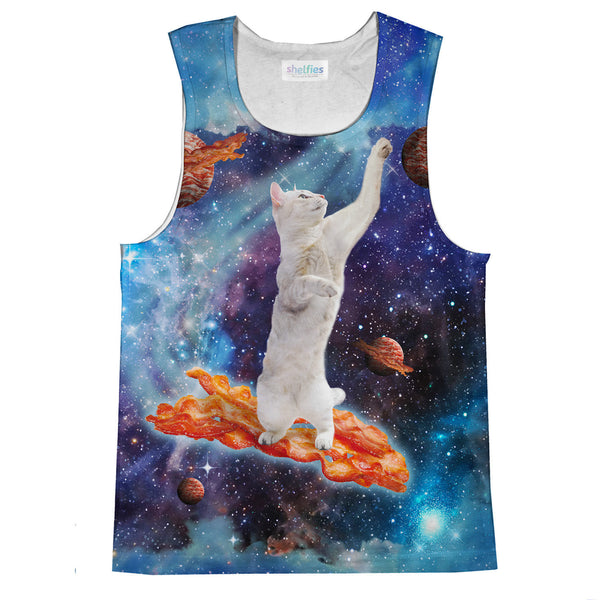 Bacon Cat Tank Top-kite.ly-| All-Over-Print Everywhere - Designed to Make You Smile