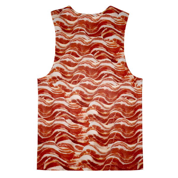 Bacon Invasion Tank Top-kite.ly-| All-Over-Print Everywhere - Designed to Make You Smile