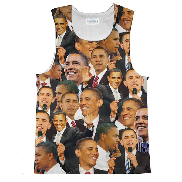 Barack Obama Face Tank Top-kite.ly-| All-Over-Print Everywhere - Designed to Make You Smile