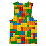 Brick Invasion Tank Top-kite.ly-| All-Over-Print Everywhere - Designed to Make You Smile