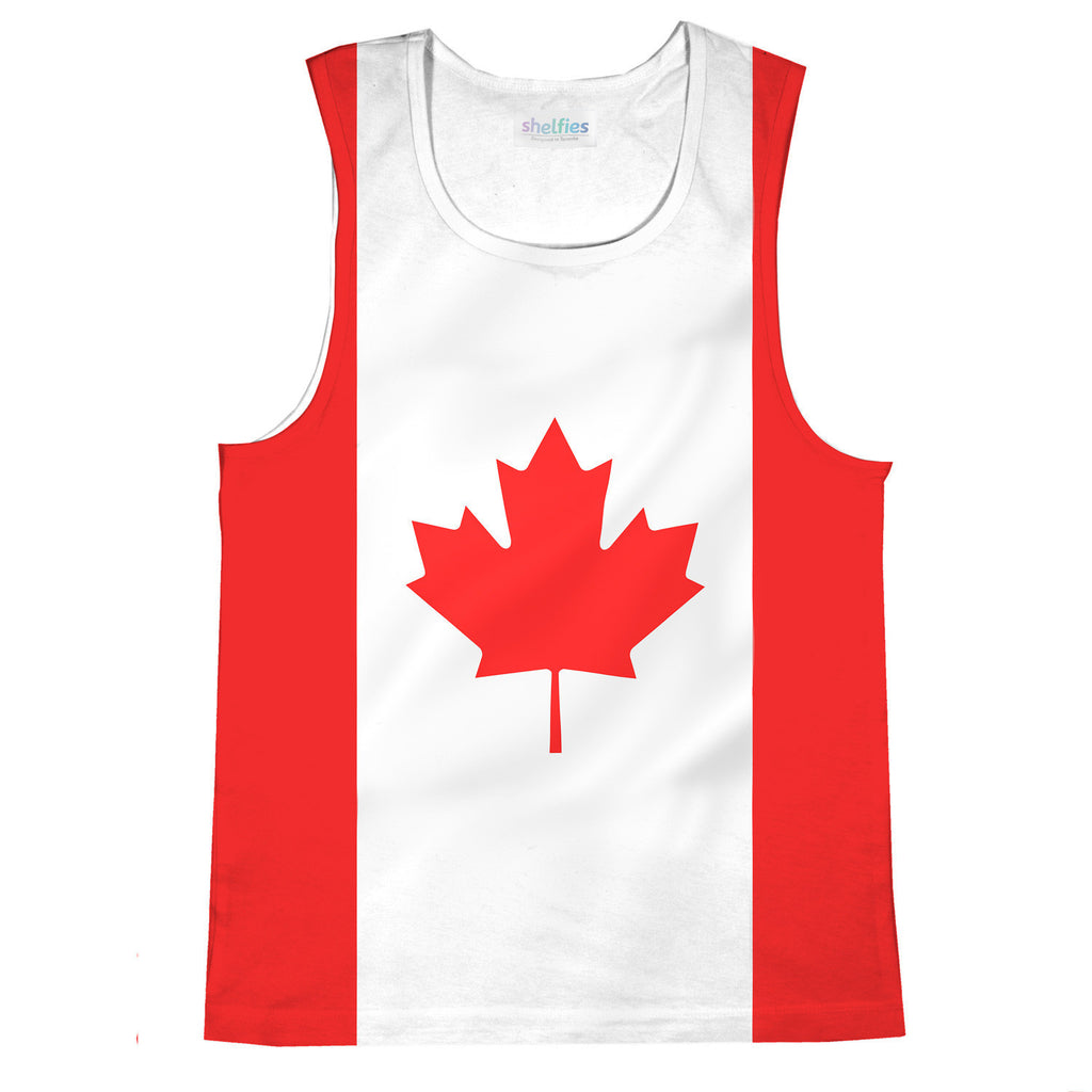 Canadian Flag Tank Top-kite.ly-| All-Over-Print Everywhere - Designed to Make You Smile
