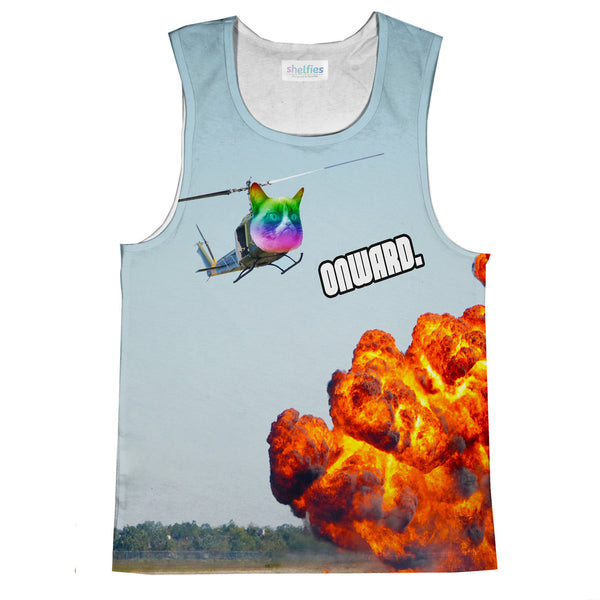 Tank Tops - Cat Copter Tank Top