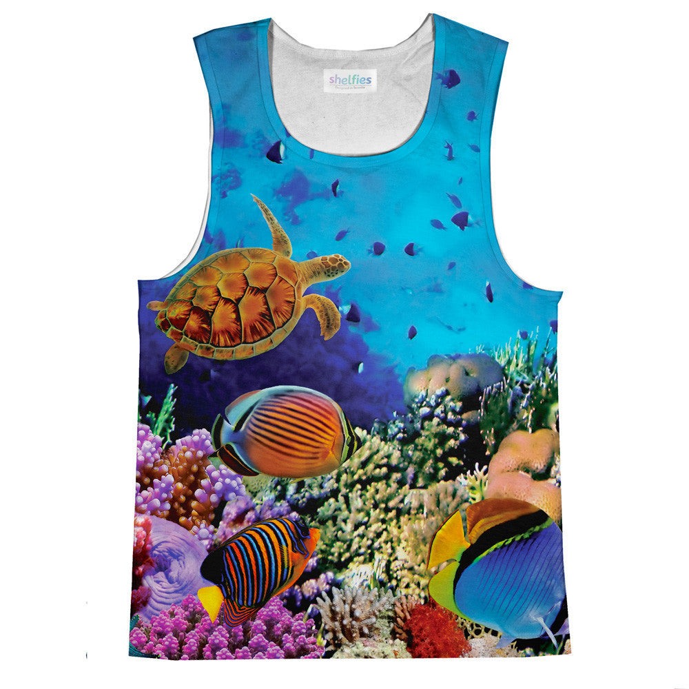Coral Tank Top-kite.ly-| All-Over-Print Everywhere - Designed to Make You Smile