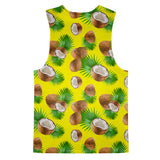 Cuban Coconut Tank Top-kite.ly-| All-Over-Print Everywhere - Designed to Make You Smile