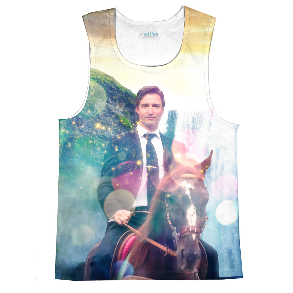 Dreamy Trudeau Tank Top-kite.ly-| All-Over-Print Everywhere - Designed to Make You Smile