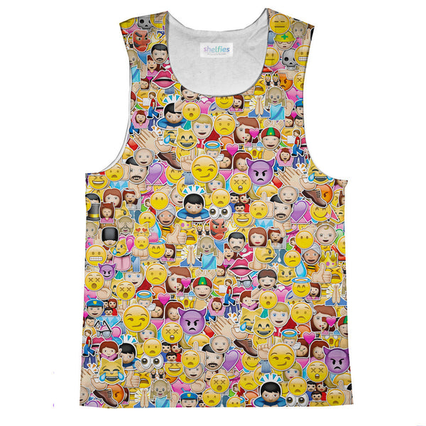 Emoji Invasion Tank Top-kite.ly-| All-Over-Print Everywhere - Designed to Make You Smile