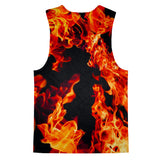 Fire Tank Top-kite.ly-| All-Over-Print Everywhere - Designed to Make You Smile
