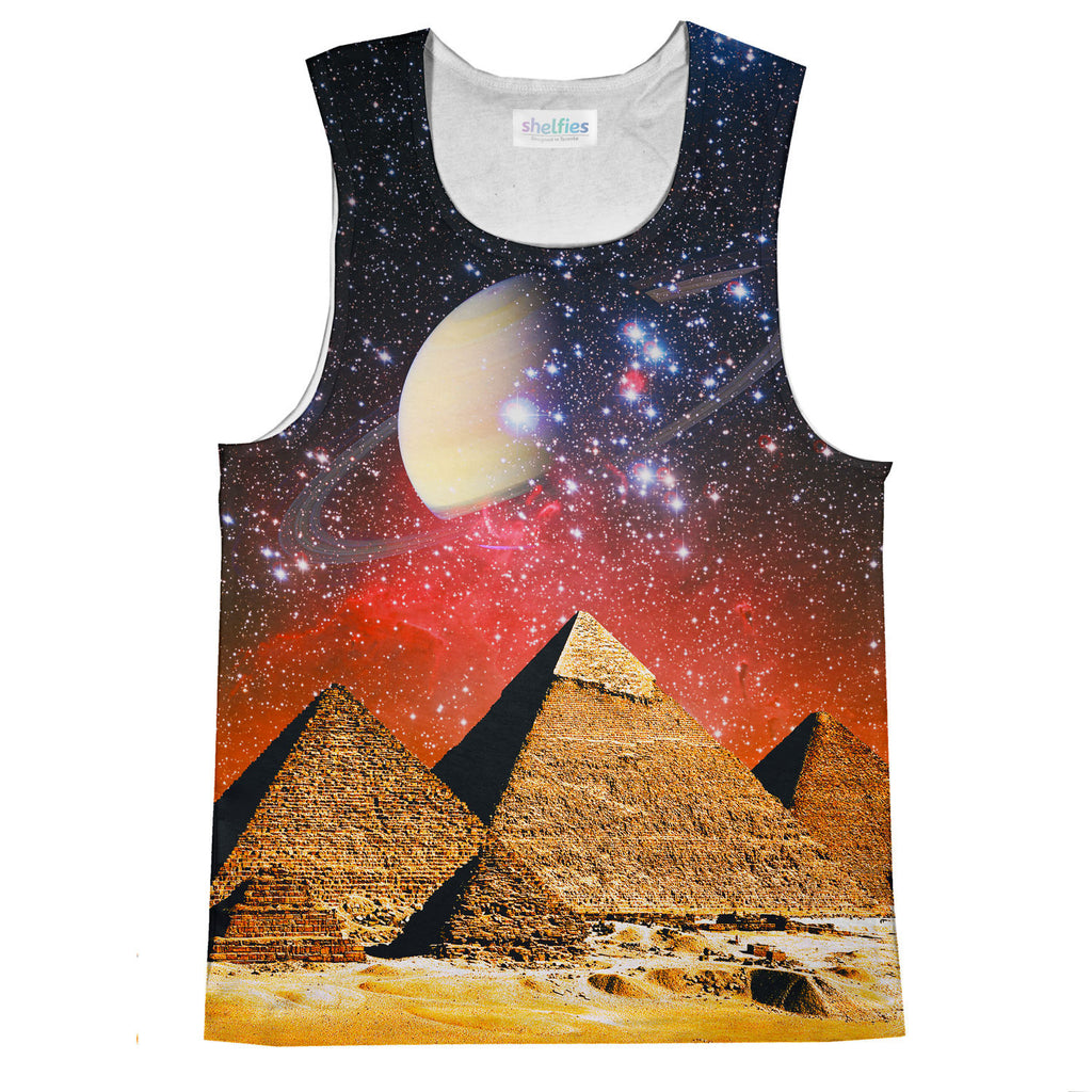 Galactic Pyramids Tank Top-kite.ly-| All-Over-Print Everywhere - Designed to Make You Smile