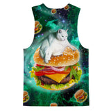 Hamburger Cat Tank Top-kite.ly-| All-Over-Print Everywhere - Designed to Make You Smile