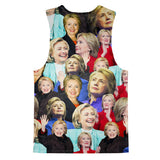 Tank Tops - Hillary Clinton Face Tank Top