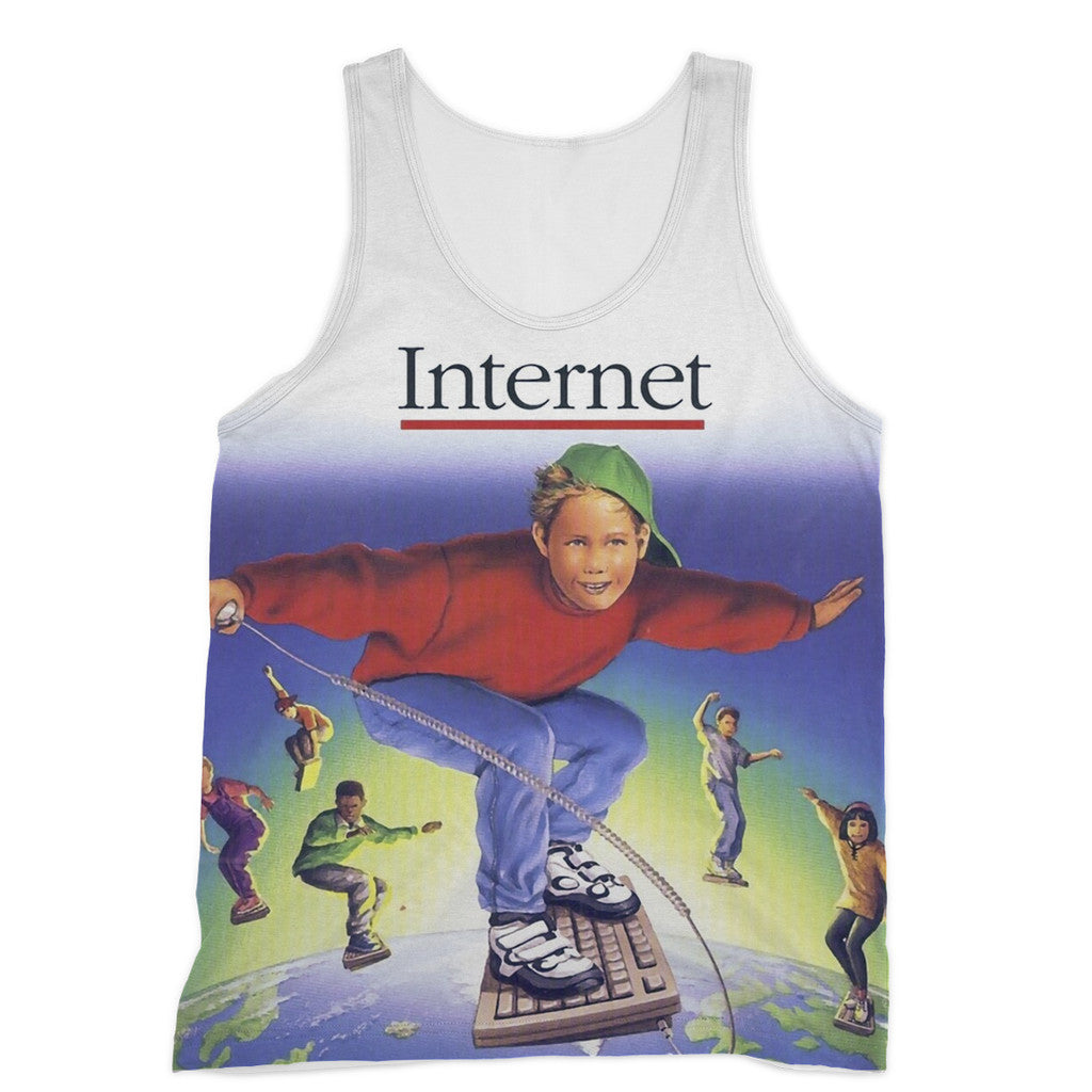 Internet Kids Tank Top-kite.ly-XS-| All-Over-Print Everywhere - Designed to Make You Smile