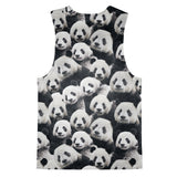 Panda Invasion Tank Top-kite.ly-| All-Over-Print Everywhere - Designed to Make You Smile