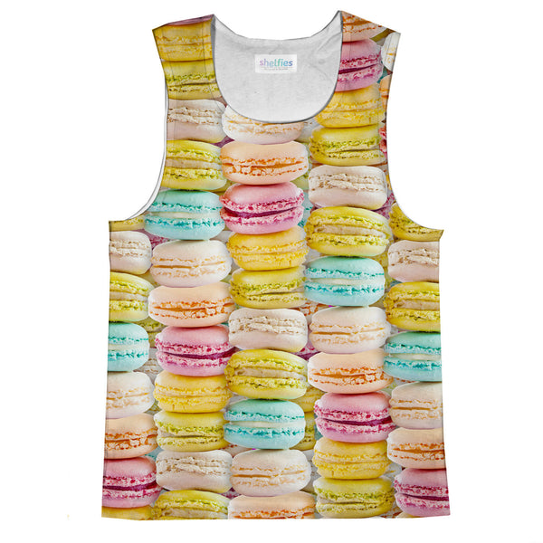 Pastel Macaroons Invasion Tank Top-kite.ly-| All-Over-Print Everywhere - Designed to Make You Smile