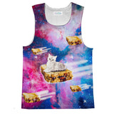 PB&J Galaxy Cat Tank Top-kite.ly-| All-Over-Print Everywhere - Designed to Make You Smile