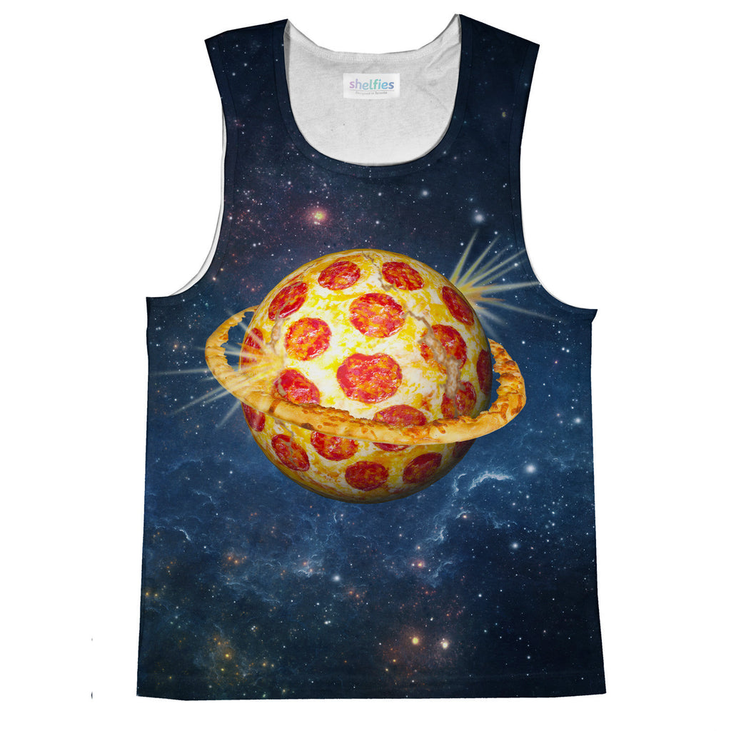 Tank Tops - Planet Pizza Tank Top