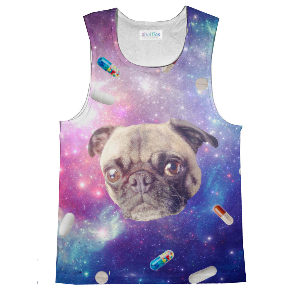Pugs With Drugs Tank Top-kite.ly-| All-Over-Print Everywhere - Designed to Make You Smile