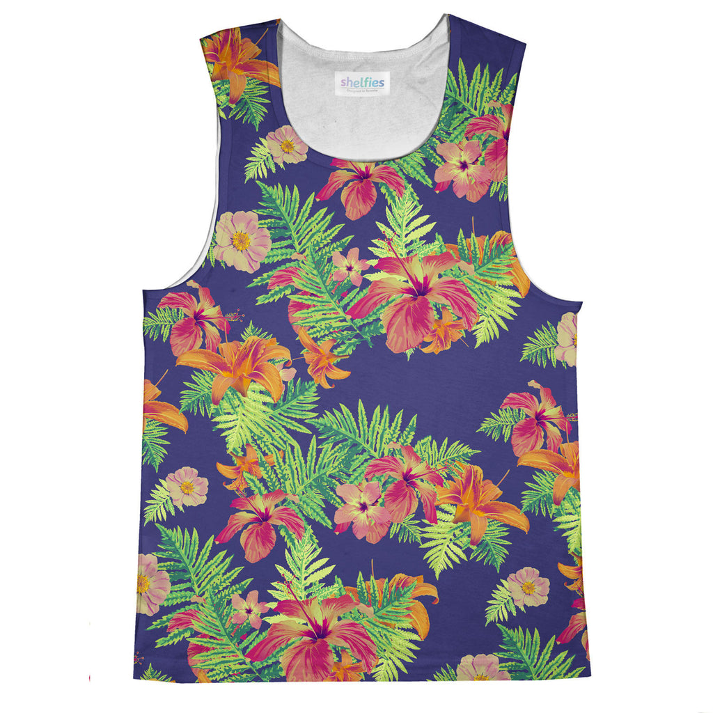 Tank Tops - Relaxed Floral Tank Top