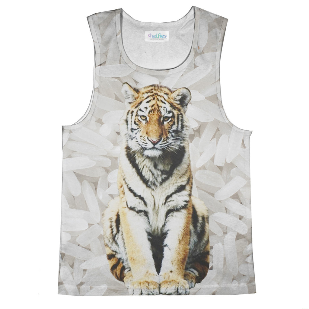 Rice Tiger Tank Top-kite.ly-| All-Over-Print Everywhere - Designed to Make You Smile