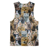 Scaredy Cat Tank Top-kite.ly-| All-Over-Print Everywhere - Designed to Make You Smile