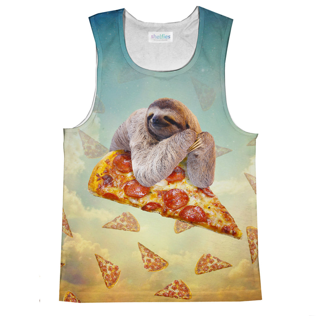 Tank Tops - Sloth Pizza Tank Top