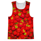 Strawberry Invasion Tank Top-kite.ly-| All-Over-Print Everywhere - Designed to Make You Smile
