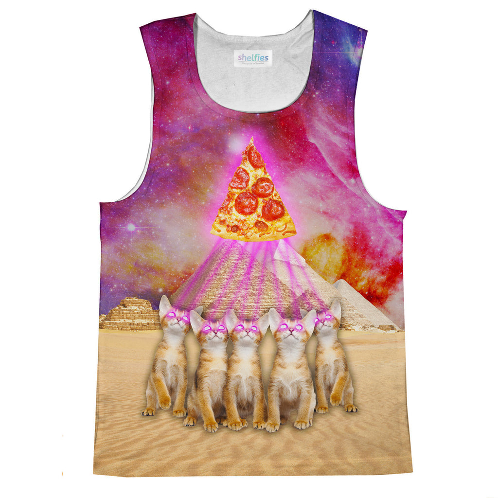 Tank Tops - The Great Pyramid Of Pizza Tank Top