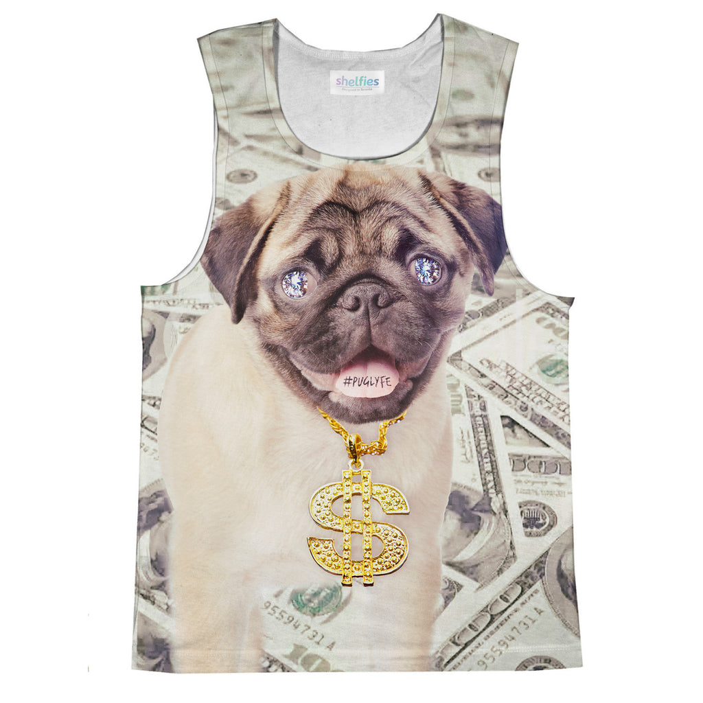 Thug Pug Tank Top-kite.ly-| All-Over-Print Everywhere - Designed to Make You Smile
