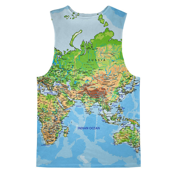World Map Tank Top-kite.ly-| All-Over-Print Everywhere - Designed to Make You Smile