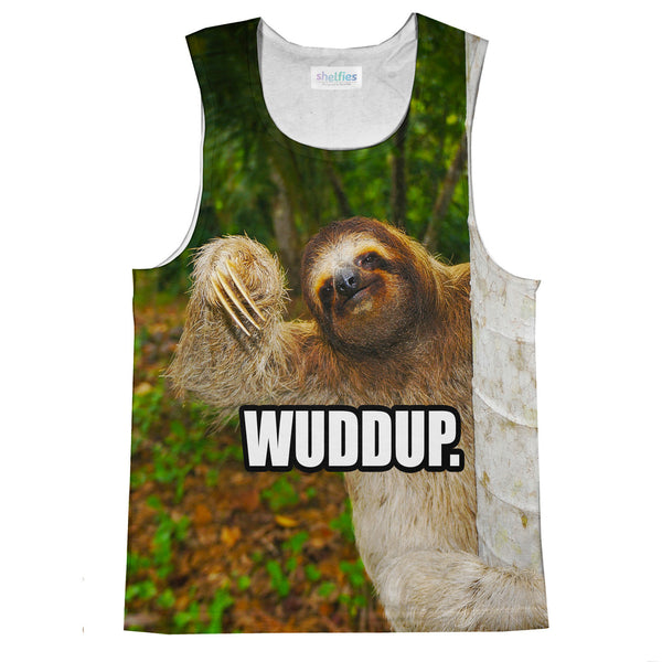 Wuddup Sloth Tank Top-kite.ly-| All-Over-Print Everywhere - Designed to Make You Smile