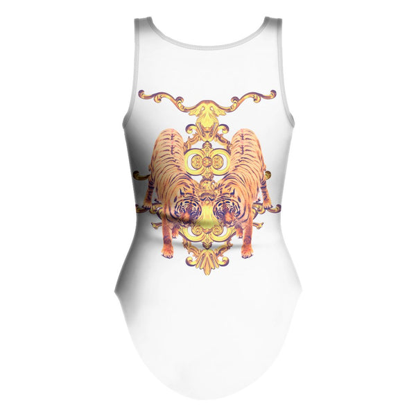 Tiger Opulence One Piece Swimsuit-teelaunch-| All-Over-Print Everywhere - Designed to Make You Smile