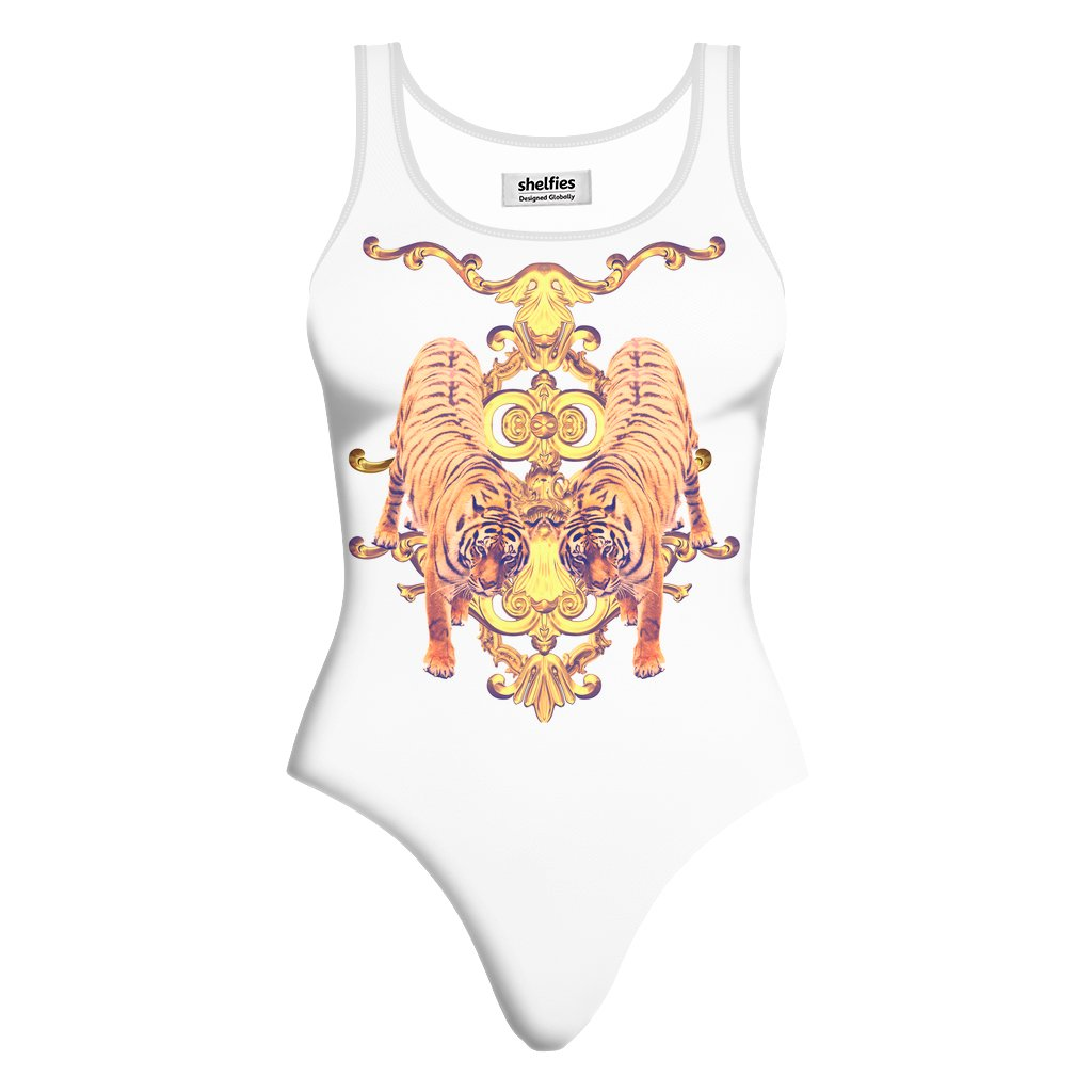 Tiger Opulence One-Piece Swimsuit-teelaunch-XS-| All-Over-Print Everywhere - Designed to Make You Smile