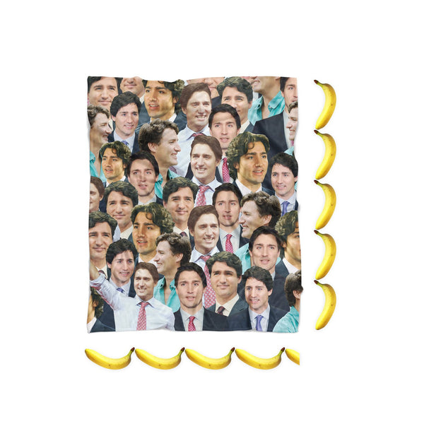 Justin Trudeau Face Blanket-Gooten-| All-Over-Print Everywhere - Designed to Make You Smile