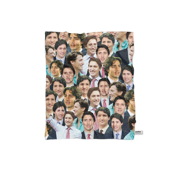 Justin Trudeau Face Blanket-Gooten-Regular-| All-Over-Print Everywhere - Designed to Make You Smile