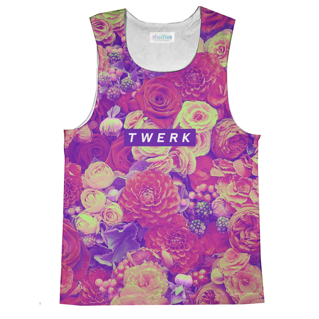 Twerkin' Roses Tank Top-kite.ly-XS-| All-Over-Print Everywhere - Designed to Make You Smile