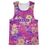 Twerkin' Roses Tank Top-kite.ly-| All-Over-Print Everywhere - Designed to Make You Smile