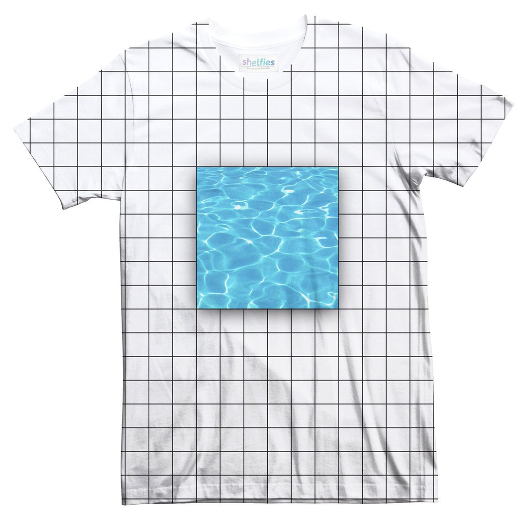 Water Grid T-Shirt-Shelfies-| All-Over-Print Everywhere - Designed to Make You Smile