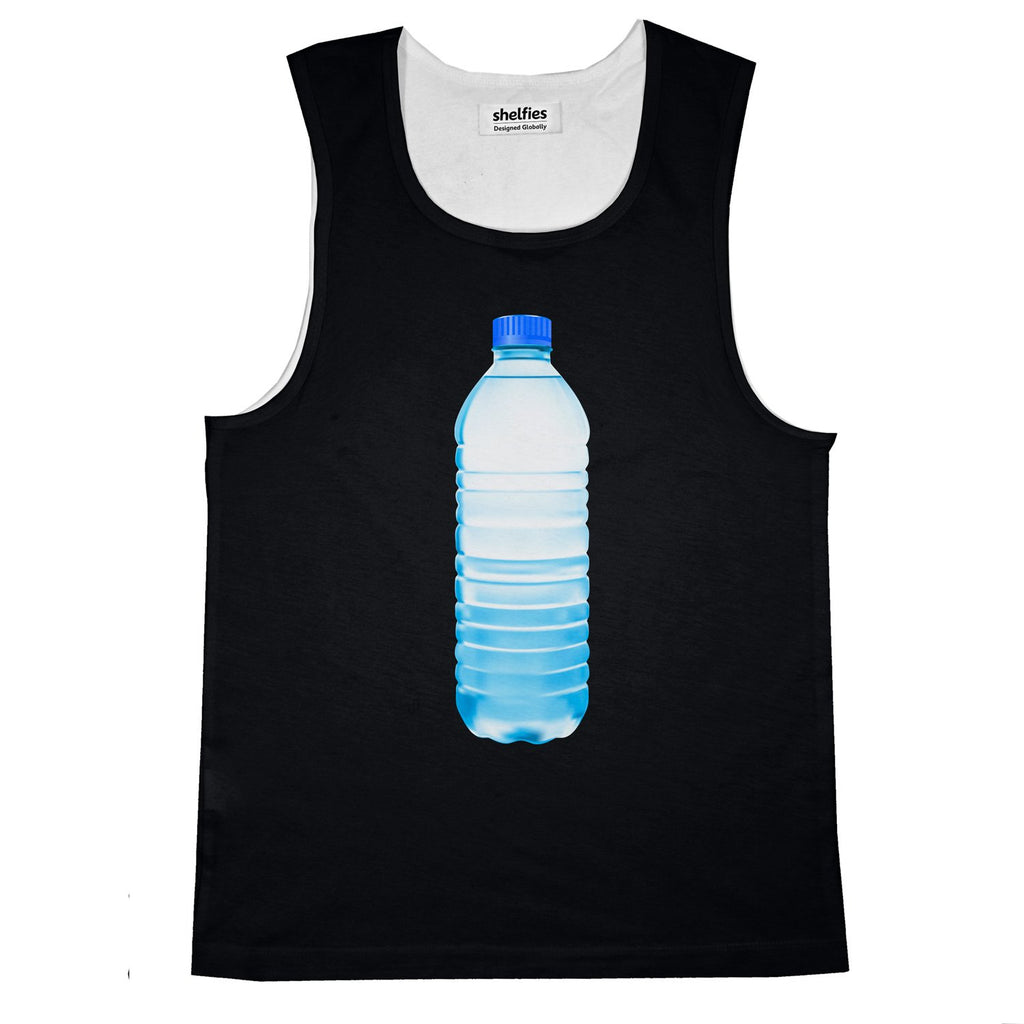 Waterbottle Basic Tank Top-Printify-Black-S-| All-Over-Print Everywhere - Designed to Make You Smile