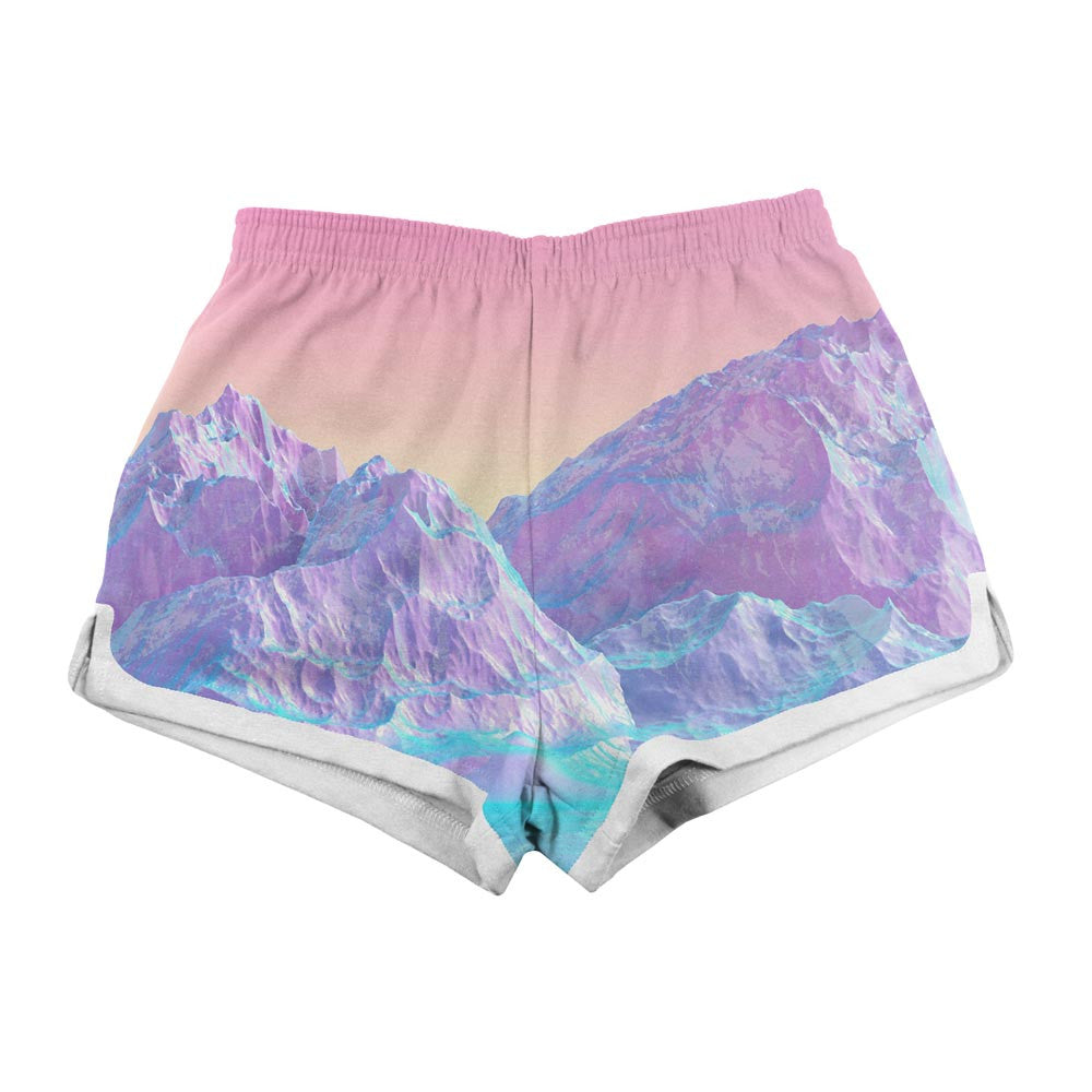 Women's Shorts - Pastel Mountains Women's Shorts