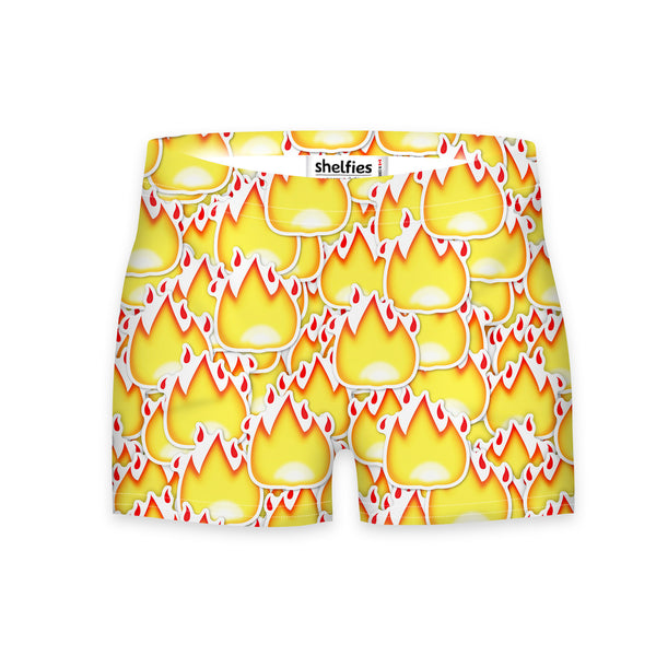 Workout Shorts - Fire Emoji Workout Shorts