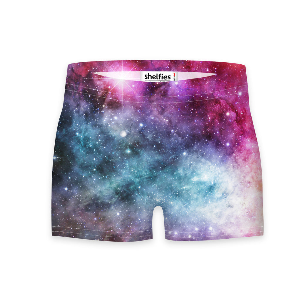 Galaxy Love Workout Shorts-Shelfies-| All-Over-Print Everywhere - Designed to Make You Smile