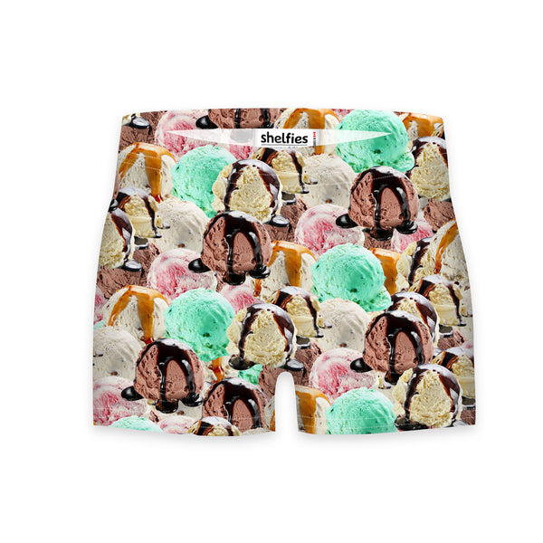 Ice Cream Invasion Workout Shorts-Shelfies-| All-Over-Print Everywhere - Designed to Make You Smile