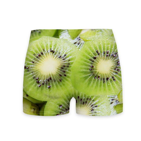 Kiwi Invasion Workout Shorts-Shelfies-| All-Over-Print Everywhere - Designed to Make You Smile